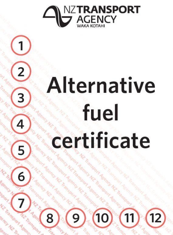 alt fuels label