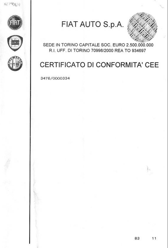 Sample Ec Certificate Of Conformity - Nzta Vehicle Portal