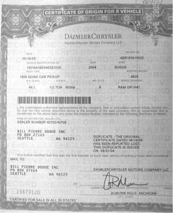 sample certificate of origin  us